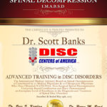Dr. Scott Banks Receives Prestigious Back Pain Treatment Award